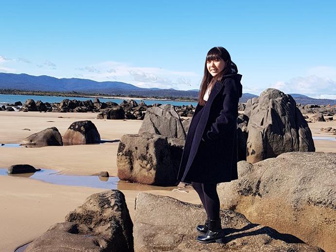 Ayumi Kado on a road trip