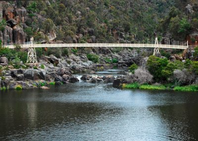 Alexandra suspension bridge up the Cataract Gorge