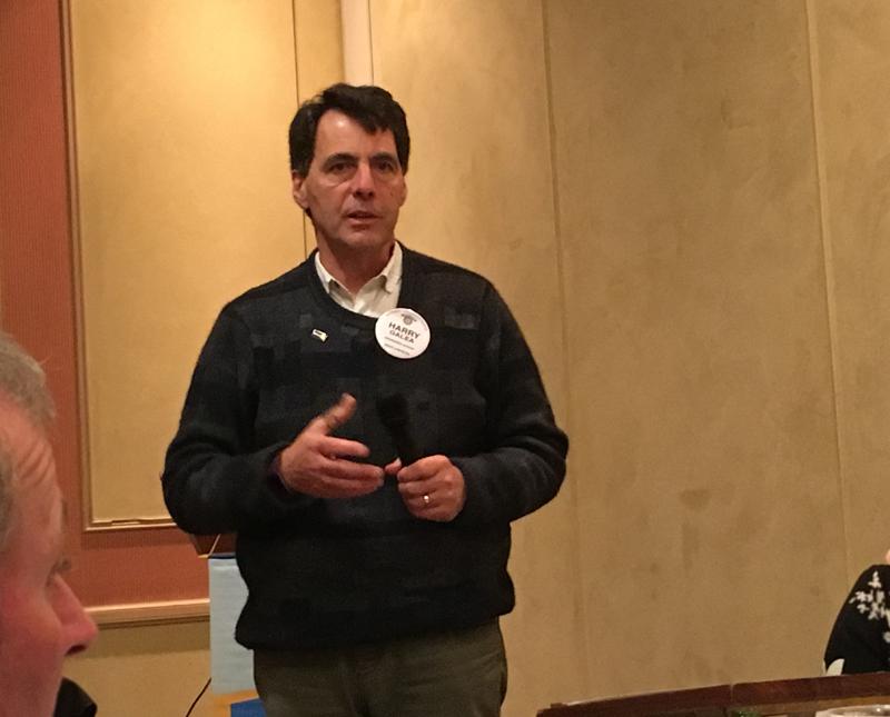 Harry Galea talking on floods