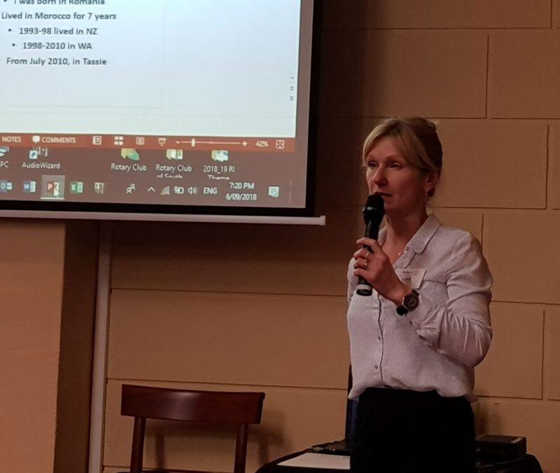 Rotarian behind the Badge-Lara Alexander