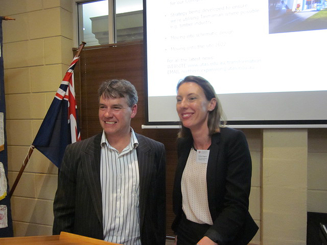 UTAS Northern Transformation Project – Rotarian James McKee &  Chelsea Wingrove