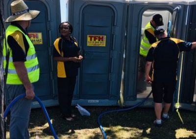 Loo duties at Red Hot Summer concert