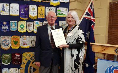 PP Henry Harris is presented with Honorary Membership