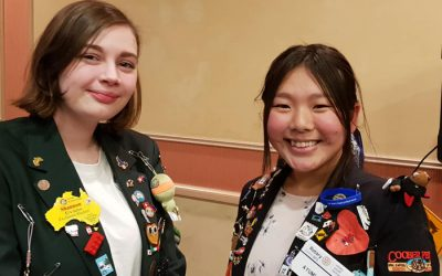 Exchange Students Shannon Evans  and Ayumi Kado