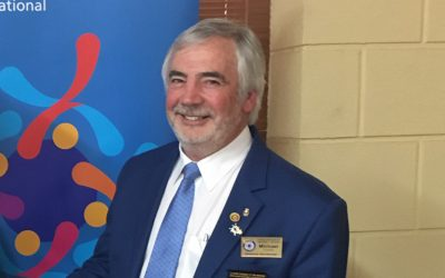 District Governor Michael Cooke's visit