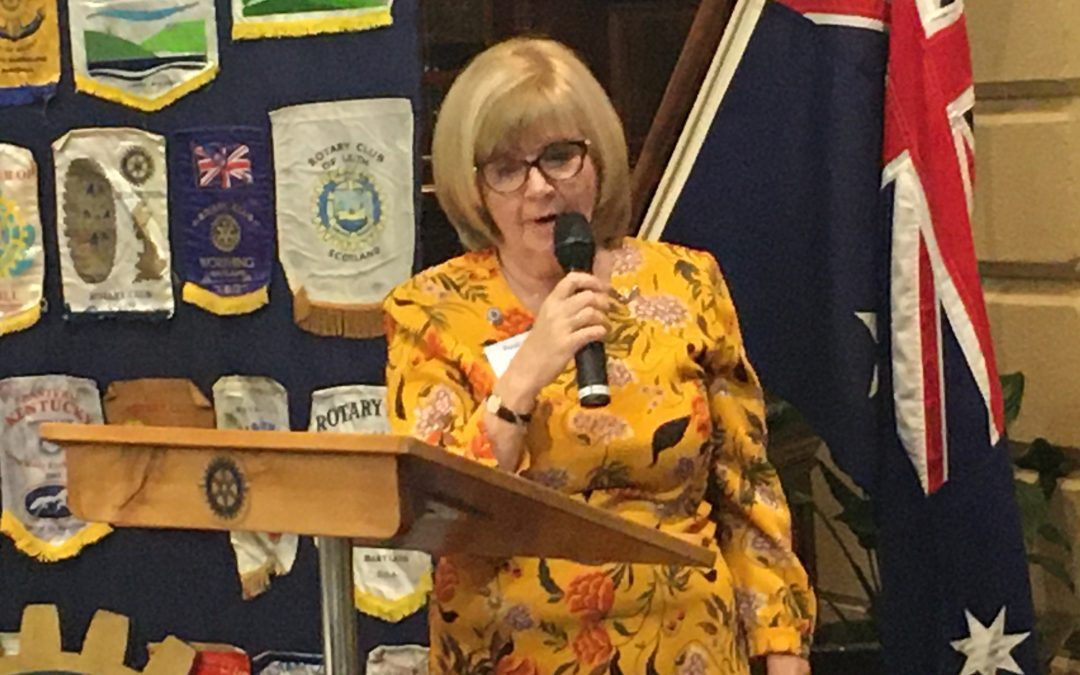 Our Secretary Andrea Bartholemew gave us a talk on her recent visit to Christchurch NZ, when she attended the Rotary Zonal Conference