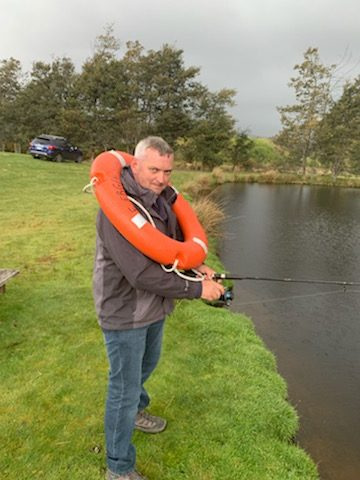 There is always a nervous fisherman….
