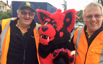 Manning the gates at the Launceston Show.